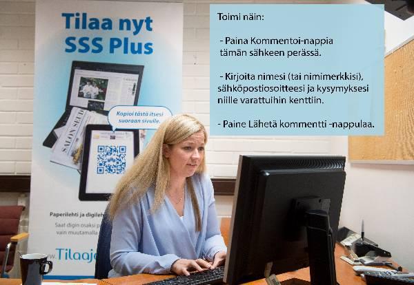 Annika Viitanen vastaa kysymyksiin sopeuttamisohjelmasta.