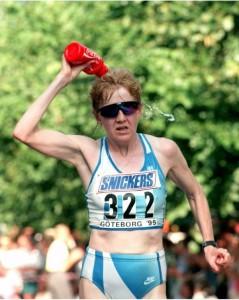 Ritva Lemettisen viides sija 20 vuoden takaisella MM-maratonilla oli äärettömän kova suoritus.  Kuva: Lehtikuva/Matti Björkman