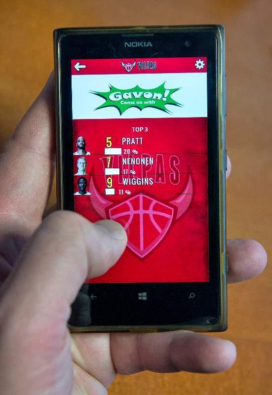Sovelluksen avulla katsoja voi äänestää Vilppaan pelissä esimerkiksi ottelun parasta pelaajaa.