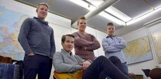Muurlasta tuleva 6G on yhtä kuin basisti Tino Nieminen (vas.), kitaristi Aleksi Lehtinen, rumpali Jere Nieminen ja laulaja Matias Haikonen.