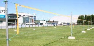 Power Cupin kentät odottivat torstaina pelaajia. Kuva: Lentopalloliitto