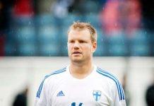Teemu Tainio ennen Turussa vuonna 2013 pelattua Suomi-Slovenia-ottelua. Kuva: Turun Sanomat/Tara Jaakkola