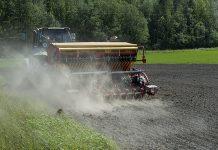 Halikkolainen Aki Riski tietää, että kylvösuunnitelman muutos aiheuttaa lisätyötä ja lisää byrokratiaa. Riski kylvi keskiviikkona maanparannuskasvi öljyretikkaa pienelle alalle peltoa, joka oli vielä toistaiseksi märkyyden takia jäänyt kylvämättä.