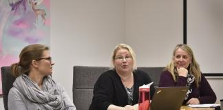 Anne Lyhde-Tallqvist (vas.), Birgitta Halmetkangas ja Marika Ketamo ovat edustaneet Salon kaupunkia keräyksen suunnittelussa.