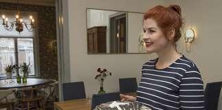 Laura-Maria Laaksonen viihtyy salissa keittiötä paremmin.
